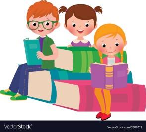 children-reading-books-vector-3609319